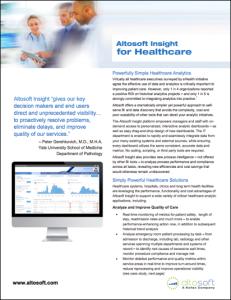 Datasheet - Altosoft BI for Healthcare